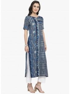 Varanga Blue Printed Kurta