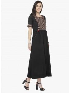 Varanga Black Solid Dress
