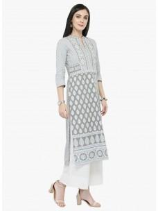Varanga Grey Printed Kurta