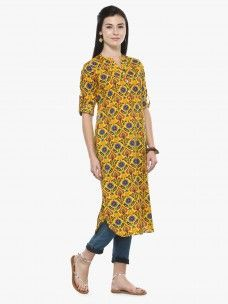 Varanga Multicolor Cambric Printed Kurta