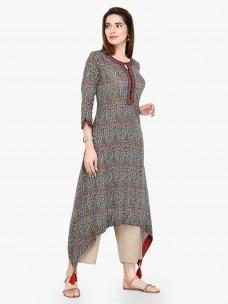 Varanga Multi Cotton Blend Printed Kurta With Pant