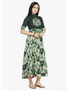 Varanga Green Printed Dress