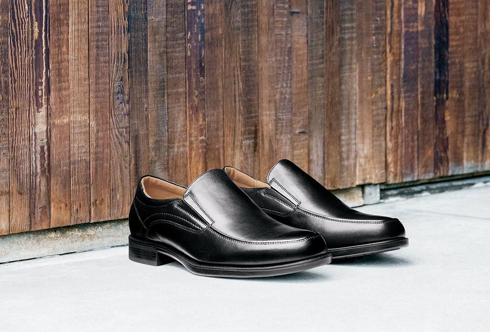 Shop the Florsheim Shoes New Arrivals Category. The featured product is the Fuel Knit Wingtip Oxford in a variety of colors.