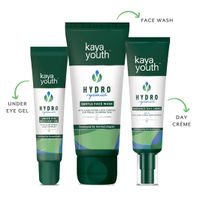 Hydration Boost Combo: Under Eye Recovery Gel + Gentle Face Wash + Radiance Day Crème