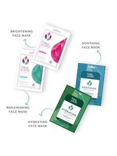 Me-Time Sheet Mask Combo: Brightening, Replenishing, Hydrating & Soothing