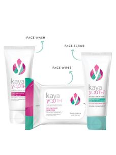 Glow Essentials Trio: Face Wash + Polishing Face Scrub + Face Wipes