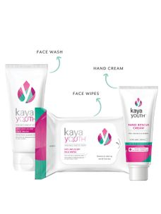 Hand-Bag Essentials Glow Set: Face Wash + Hand Rescue Cream + Face Wipes