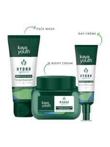 Hydrating Radiance Trio: Day Crème + Night Cream + Face Wash