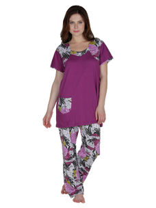 Secret Wish Cotton Purple Night Suit