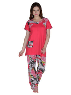 Secret Wish Cotton Red Night Suit