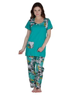 Secret Wish Cotton Green Night Suit