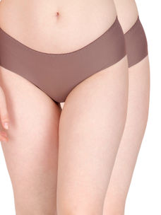 Secret Wish Seamless Brown Panty - Pack of 2