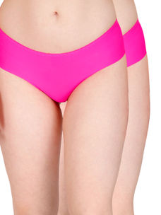 Secret Wish Seamless Hot Pink Panty - Pack of 2
