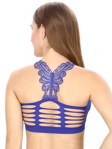 Blue Solid Bralette Top