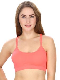 Orange Solid Bralette Top