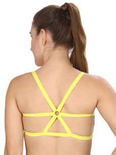 Solid Yellow Sorts Bra