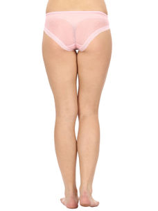 Lacy Full Coverage Panty-Baby Pink