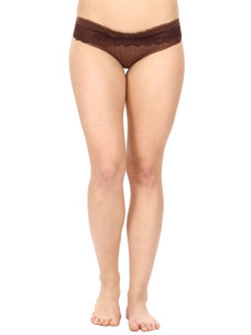 Lacy Full Coverage Panty-Brown