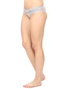 Lacy Full Coverage Panty-Grey