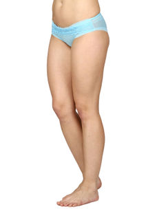 Lacy Full Coverage Panty-Light Blue