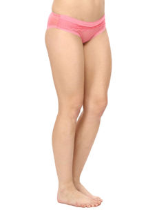 Lacy Full Coverage Panty-Pink