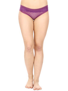 Lacy Full Coverage Panty-Purple