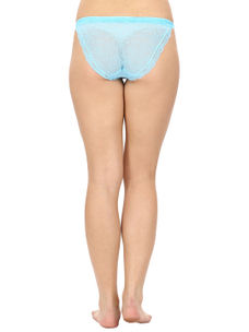 Thong Style Panty in Light Blue