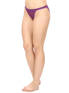 Thong Style Panty in Purple