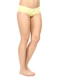 Mid Waist Bikini Panty-Yellow
