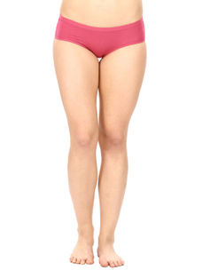 Full Coverage Cotton Panty in Dark Pink
