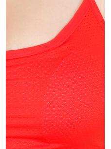 Secret Wish Padded Nylon,Spandex Red Sports Bra