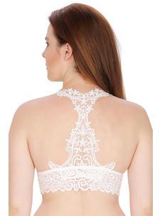 Secret Wish Padded Nylon,Spandex White Bralette Bra