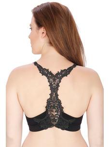 Secret Wish Women's Nylon,Spandex Black Sports Bra