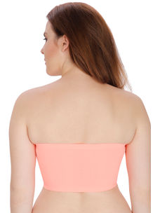 Secret Wish Padded Nylon,Spandex Peach Tube Bra