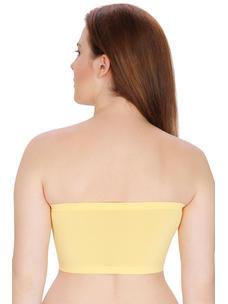 Secret Wish Padded Nylon,Spandex Yellow Tube Bra