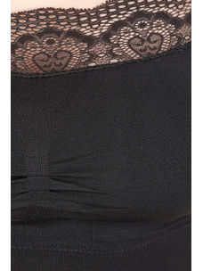 Secret Wish Women's Nylon,Spandex Black Blouse
