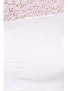 Secret Wish Women's Nylon,Spandex White Blouse