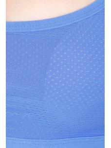 Secret Wish Padded Nylon,Spandex Blue Sports Bra