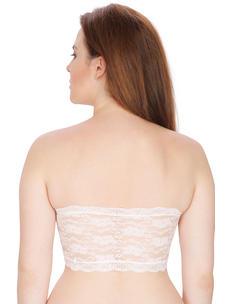 Secret Wish Women's Nylon,Spandex White Tube Bra