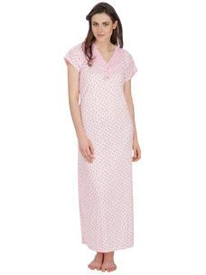Secret Wish Women's Hosiery Pink Nighty (Pink, Free Size)