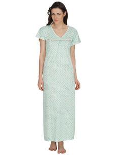 Secret Wish Women's Hosiery Green Nighty (Green, Free Size)
