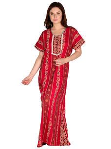 Secret Wish Women's Cotton Red Nighty, Nightdress (Free Size, NT-76)