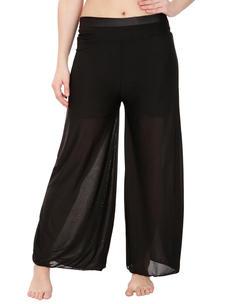 Secret Wish Women's Black Palazzo Trouser