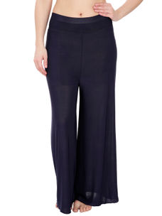 Secret Wish Women's Navy Blue Palazzo Trouser
