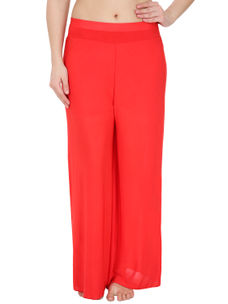 Secret Wish Women's Red Palazzo Trouser