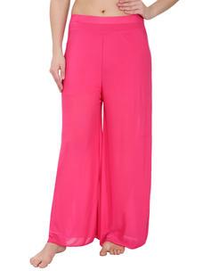 Secret Wish Women's Pink Palazzo Trouser