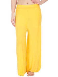 Secret Wish Women's Yellow Palazzo Trouser