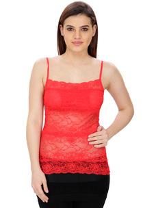 Secret Wish Women's Cotton Red Camisole
