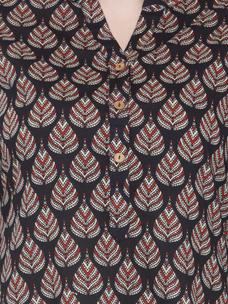 Varanga Black Pure Cotton Printed Kurta With Palazzo