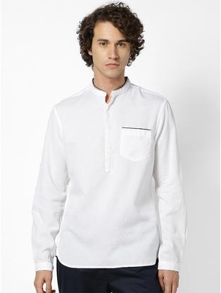 100% Cotton Slim Fit White Shirt